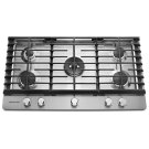 """36"""" 5-Burner Gas Cooktop - Stainless Steel Product Image"""