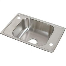 "Elkay Celebrity Stainless Steel 25"" x 17"" x 6-1/2"", Single Bowl Drop-in Classroom ADA Sink"