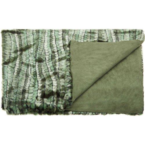 "Fur N9551 Green 50"" X 70"" Throw Blankets"
