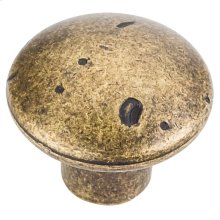 "1-1/4"" Diameter Weathered Cabinet Knob."