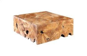 Teak Slice Coffee Table Square