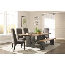 Marquette Rustic Mahogany Dining Table