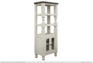 2 Door Bookcase Pier for Wall Unit