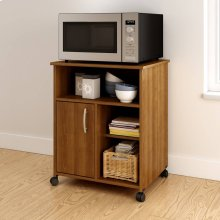 Microwave Cart with Storage on Wheels - Morgan Cherry