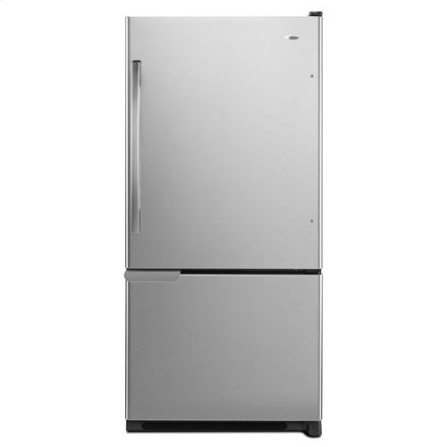 18.5 cu. ft. Bottom-Freezer Refrigerator with ENERGY STAR® Qualification - black