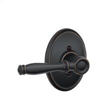 Birmingham Lever with Wakefield trim Non-turning Lock - Aged Bronze