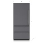 "SUB-ZERO36"" Designer Over-and-Under Refrigerator/Freezer with Internal Dispenser and Ice Maker - Panel Ready"