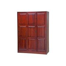 3-Sliding Door Wardrobe, Mahogany