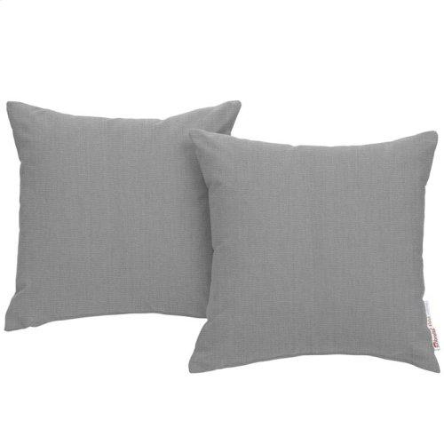 Summon 9 Piece Outdoor Patio Sunbrella® Sectional Set in Canvas Gray