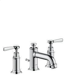 Chrome Montreux Widespread Faucet with Lever Handles, Low Spout, 1.2 GPM