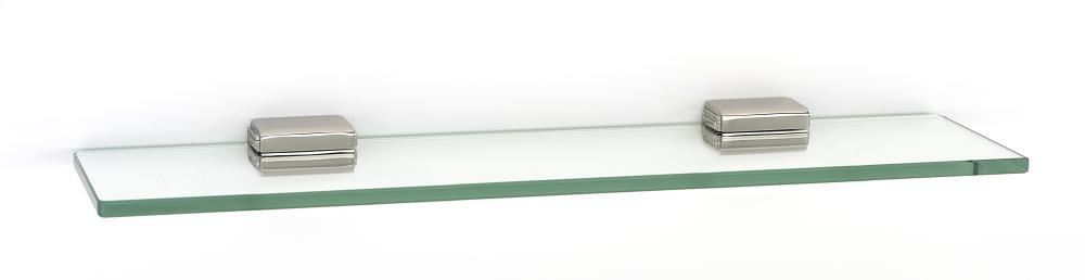 Cube Glass Shelf A6550-18 - Polished Nickel
