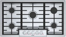 """Benchmark® 36"""" 5 Burner Gas Cooktop, NGMP656UC, Stainless Steel"""