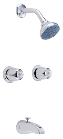 Chrome Gerber® Classics 6 Inch Centers Two Handle Shower Only Fitting