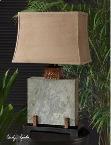 Slate Square Table Lamp
