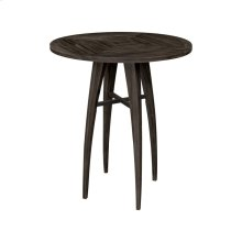 Teak Wood Bistro Table in Antique Smoke