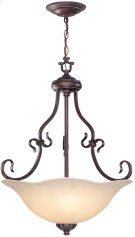 Ceiling Lamp - Ant. Bronze/l. Amber Glass, Type A 60wx3 Product Image
