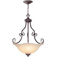 Ceiling Lamp - Ant. Bronze/l. Amber Glass, Type A 60wx3