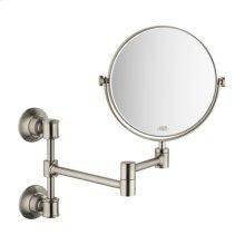 Brushed Nickel Shaving Mirror