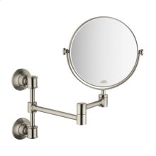 Brushed Nickel Shaving Mirror