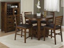 Coolidge Corner Counter Height Storage Table With Four Stools