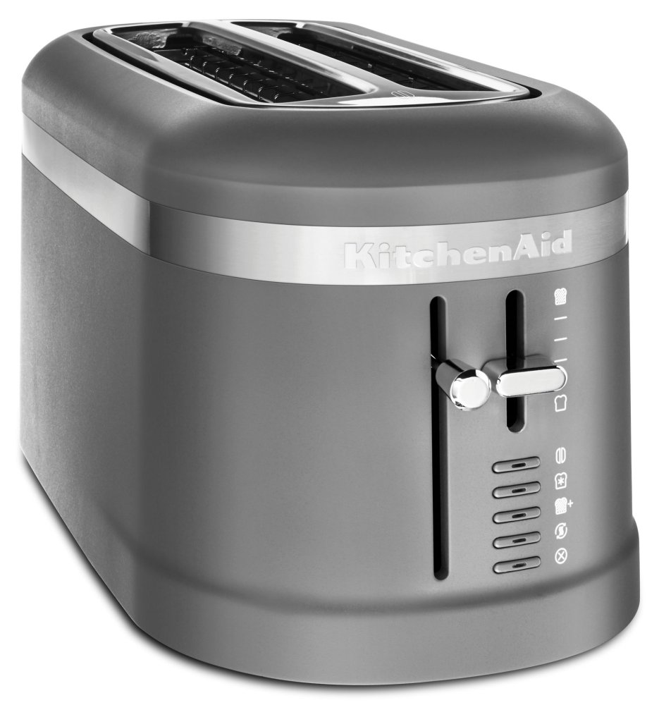 4 Slice Long Slot Toaster with High-Lift Lever - Matte Charcoal Grey  MATTE CHARCOAL GREY