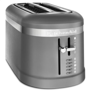 KITCHENAID4 Slice Long Slot Toaster with High-Lift Lever - Matte Charcoal Grey