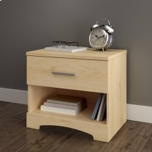1-Drawer Nightstand - End Table with Storage - Natural Maple