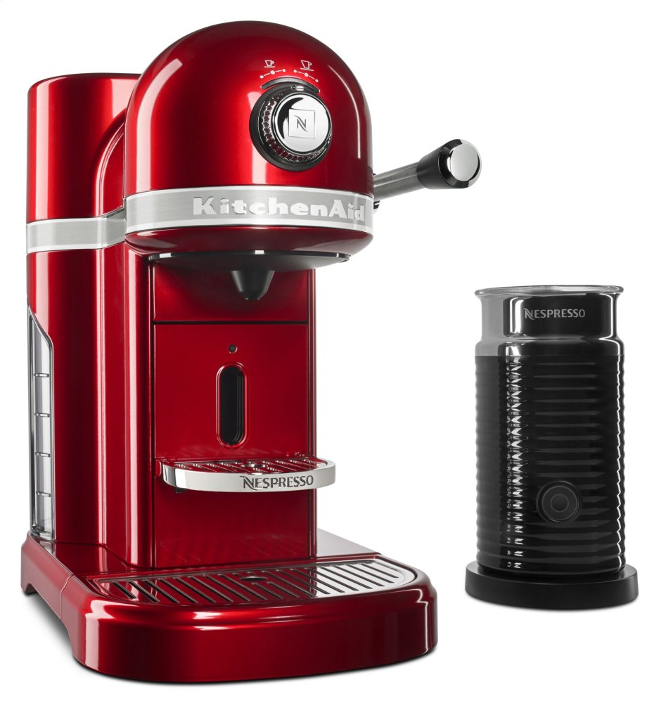 Nespresso(R) Espresso Maker by KitchenAid(R) with Milk Frother - Candy Apple Red  CANDY APPLE RED