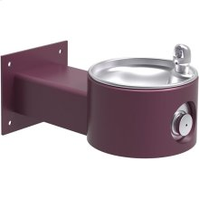 Elkay Outdoor Fountain Wall Mount, Non-Filtered Non-Refrigerated, Purple