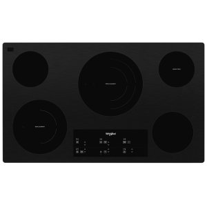 Whirlpool36-inch Electric Ceramic Glass Cooktop with Triple Radiant Element