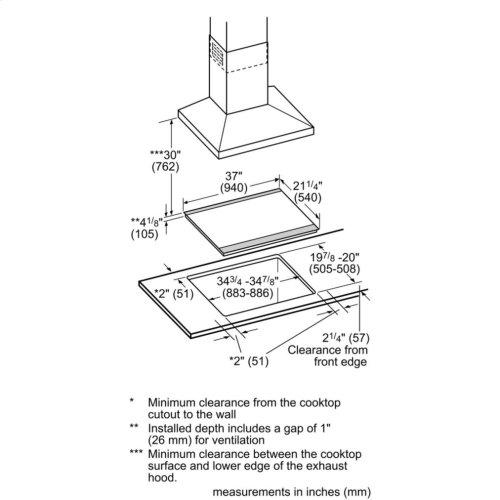 Benchmark® induction hob 36'' NITP669SUC