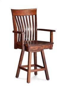 "Loft II Swivel Barstool, Arm, Specify Seat Height 17""-31"", Fabric Seat"