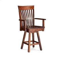 "Loft II Swivel Barstool, Arm, Specify Seat Height 17""-31"", Fabric Seat"
