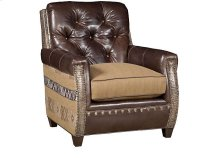 Wyatt Leather Fabric Chair, Wyatt Leather Ottoman