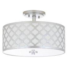 Kora 3 Light 15-inch Dia Silver Flush Mount - Silver