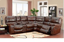 Ramsey Cognac Leather Recliner Sectional, ML6059
