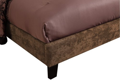 Emerald Home Colton Upholstered Bed Kit Queen Brown B126-10hbfbr-05