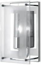 Wall Sconce, Chrome W/clear Glass, 60w/b Type Product Image