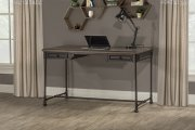 Casselberry Desk/table - Distressed Walnut / Brown Metal Product Image