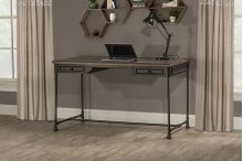 Casselberry Desk/table - Distressed Walnut / Brown Metal