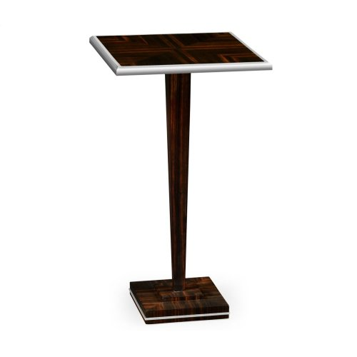 Macassar Ebony Martini Table with White Brass Detail