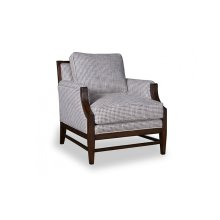 Bristol Accent Chair with Tapered Wood Legs