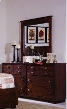 Dresser \u0026 Mirror - Espresso Pine Finish Product Image