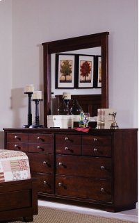 Dresser \u0026 Mirror - Espresso Pine Finish Product Image