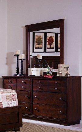 Dresser \u0026 Mirror - Espresso Pine Finish