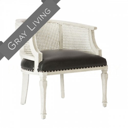 Mary Katherine Parker Gray Cane Back Chair