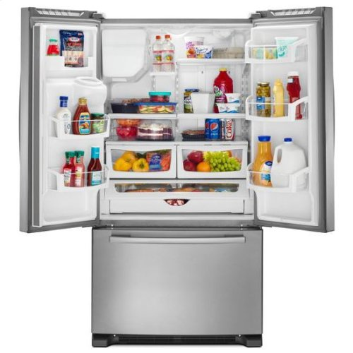36-inch French Door Bottom-Freezer Refrigerator with Fast Cool Option - white