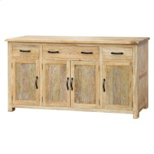 Dallas Sideboard 4 Drawers + 4 Doors, Rustic Indigo