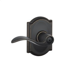 Accent Lever with Camelot trim Bed & Bath Lock - Aged Bronze