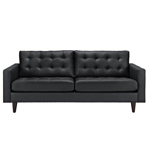 Empress Bonded Leather Sofa In Black